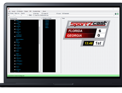 Tutorial: Sportzcast's Control Room Software